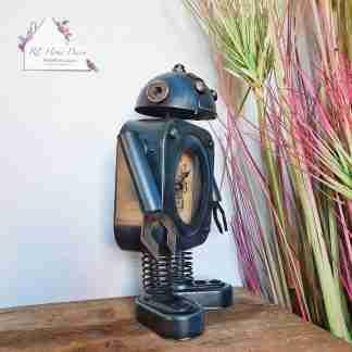 Blue Robot Clock
