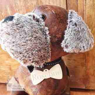 Antique Fluffy Dog Doorstop