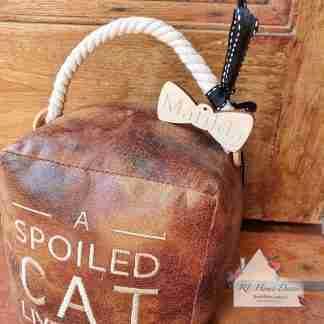 Antique Spoiled Cat Doorstop