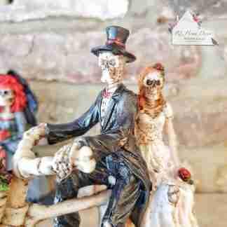 Bike Bride & Groom Ornament