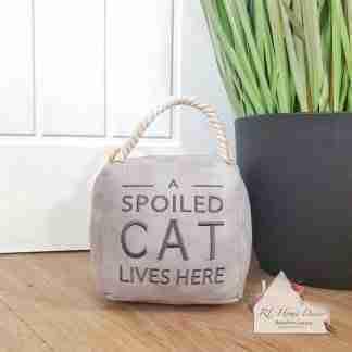Grey Spoiled Cat Doorstop