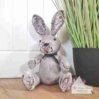 Grey Rabbit Doorstop