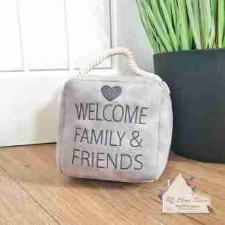 Grey Welcome Doorstop