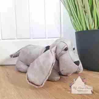 Grey Dachshund Dog Doorstop