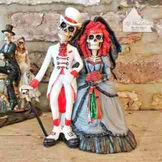 Skull Bride & Groom Ornament