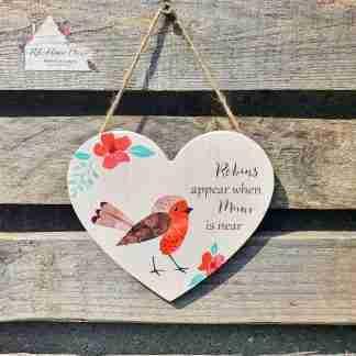 Mum Robin Heart Sign