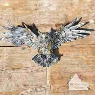 Steampunk Silver Owl