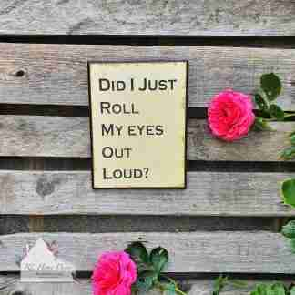 Roll Eyes Sign
