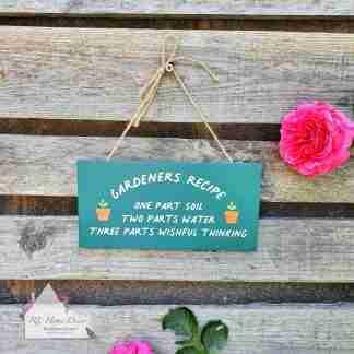 Gardeners Recipe Sign
