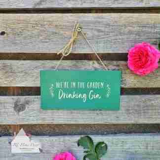 Drinking Gin Sign