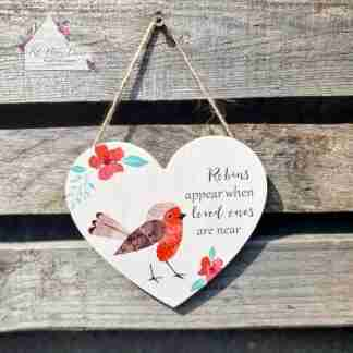 Loved One Robin Heart Sign