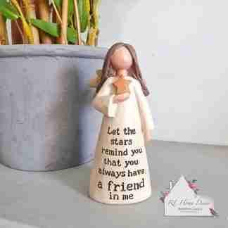 Friend Star Angel Ornament