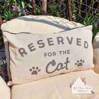 Cat Reserved Cushion