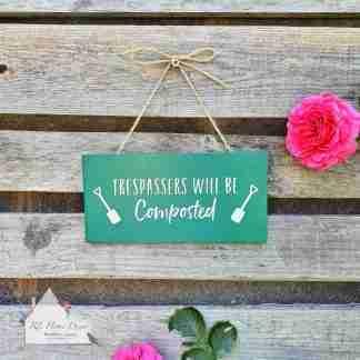 Garden Trespass Sign