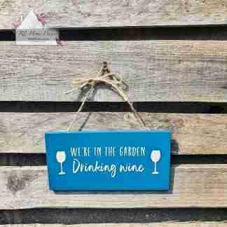 Drinking Wine Sign