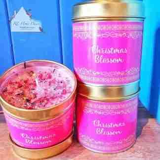 Christmas Blossom Christmas Candle