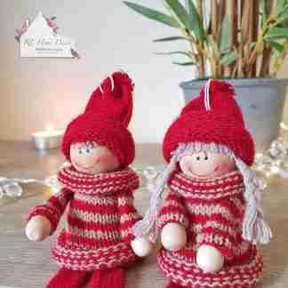 Christmas Shelf Sitter Knitted Dolls