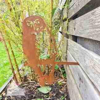 Garden Metal Owl Stake