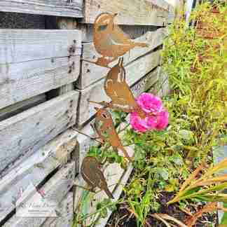 Garden Metal Bird Stakes