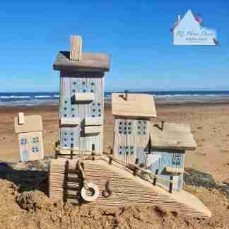 Large Nautical Wooden Hill Scene