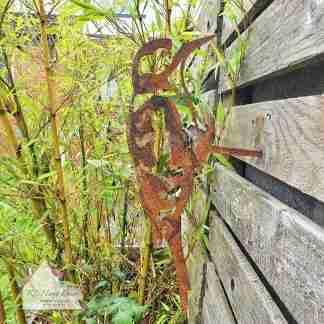 Garden Metal Woodpecker Stake