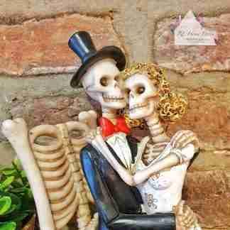 Sitting Bride & Groom Ornament