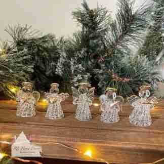 Glass Christmas Angel Set
