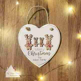 Personalised Merry Christmas Reindeer Sign