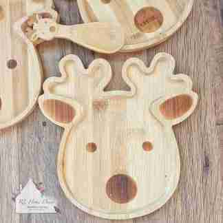 Christmas Reindeer Bamboo Plate