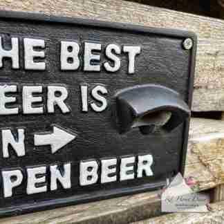 Cast Iron Open Beer Opener