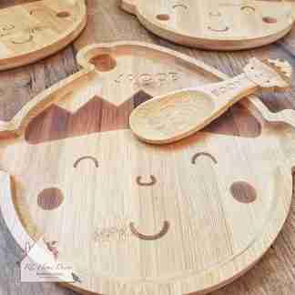Christmas Elf Bamboo Plate