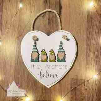 Personalised Christmas Believe Gonk Sign