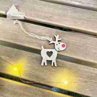 Hanging Wooden Christmas Reindeer Assortment