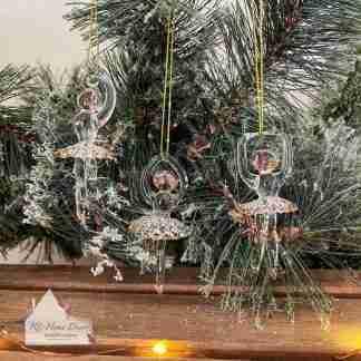 Glass Christmas Ballerina Assortment