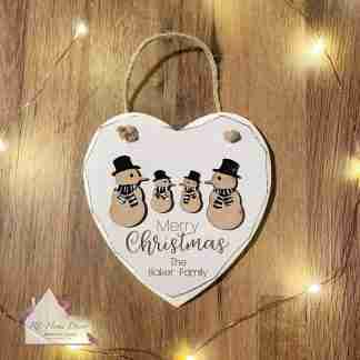 Personalised Merry Christmas Snowman Sign