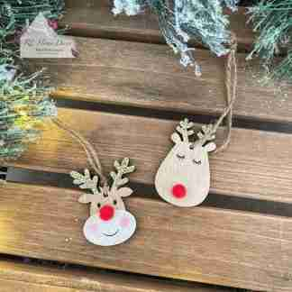 Hanging Christmas Reindeer Head Assortment