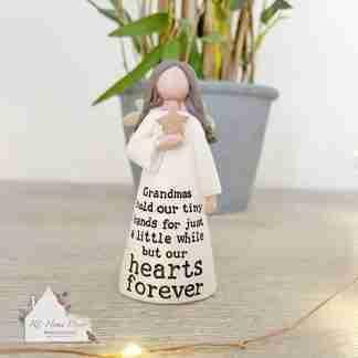 Grandma Heart Angel Ornament