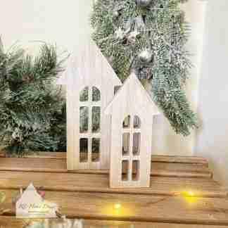 Set Of Two Christmas House