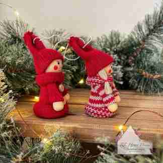 Christmas Sitting Knitted Dolls