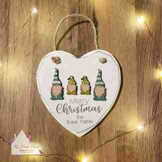 Personalised Merry Christmas Gonk Sign