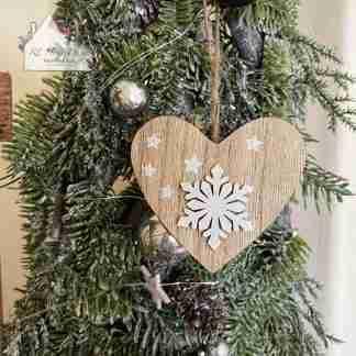 Hanging Christmas Snowflake Heart