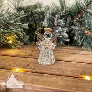 Glass Christmas Star Angel