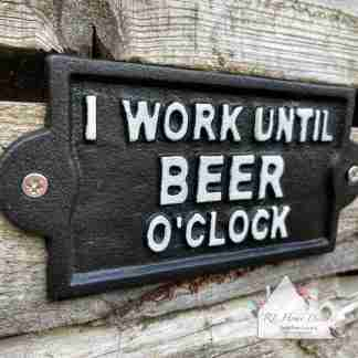 Cast Iron Beer Time Plaque
