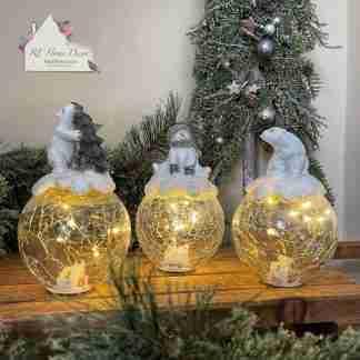 Christmas Light Up Globe Assortment