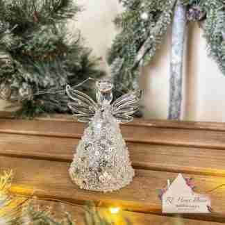 Glass Christmas Angel Skirt